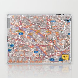 Illustrated map of Berlin-Mitte. Red Laptop & iPad Skin