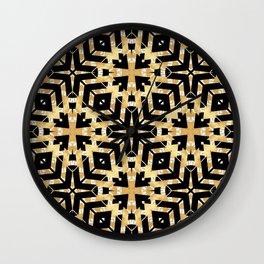 Black and Gold Foil Art Deco Wall Clock