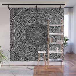 Zen Black and white mandala Sophisticated ornament Wall Mural