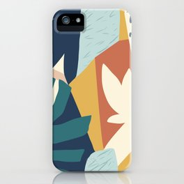 Bright Rainbow Tropical Abstract Graphic Pattern Colorful Leaves Plants iPhone Case
