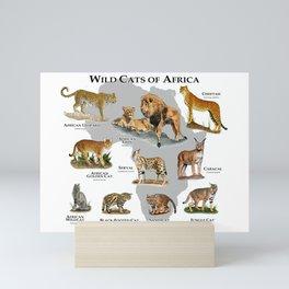 Wild Cats of Africa Poster Print Mini Art Print