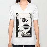 rogue V-neck T-shirts featuring Rogue by Joellart