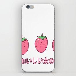 Kawaii Strawberries Cute Strawberry for Japanese Harajuku design iPhone Skin