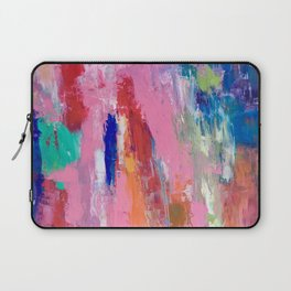 Lucky #13, a contemporary abstract in pinks and fuchsias Laptop Sleeve