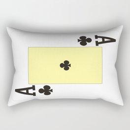 casino cards game ace of clubs Rectangular Pillow