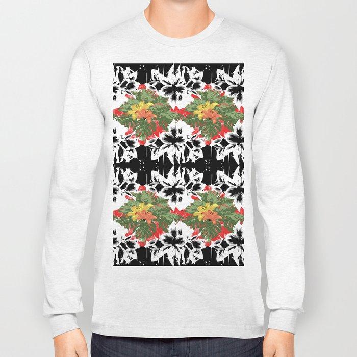 Flower Stamp Long Sleeve T-shirt