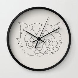 One Line Cat Wall Clock