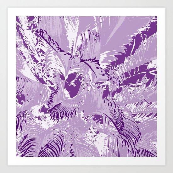 The mask - purple Art Print
