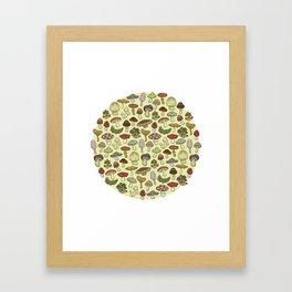 Mushroom Circle Framed Art Print