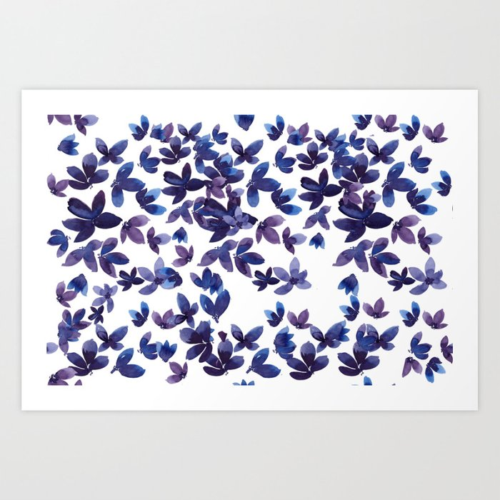 Born to Butterfly - Purple Palette Art Print