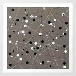 Molecular Pattern Art Print