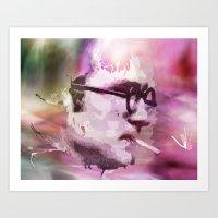philosophy Art Prints featuring Philosophy Thinker by Alex Oprea