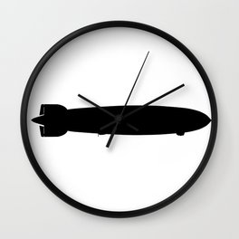 Air Ship Silhouette Wall Clock