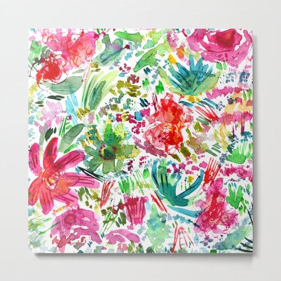 Spring vibes || watercolor Metal Print