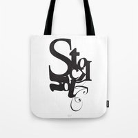 stockholm Tote Bags featuring Stockholm by Nils Gustafsson