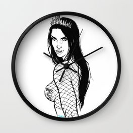 Mermaid with crown Wall Clock