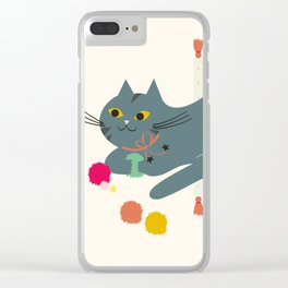 Cosy Cat Clear iPhone Case