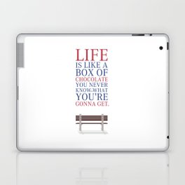 Lab No. 4 - Forrest Gump Movies Inspirational Quotes Poster Laptop & iPad Skin