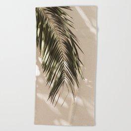 tropical palm leaves vi Beach Towel