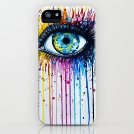 Color eyes iPhone Case