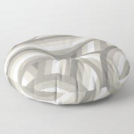 Retro Beige/Greige Stripe Pattern Floor Pillow
