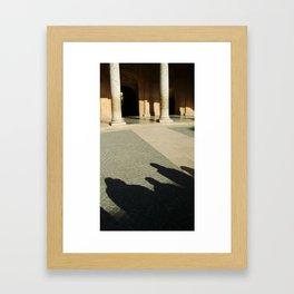 Shadows in the Courtyard Framed Art Print