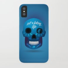 Get fcking life Slim Case iPhone X