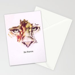 Be Fierce.  Stationery Cards