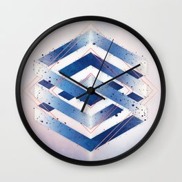 Floating Geometry :: Winter Hexagon Wall Clock