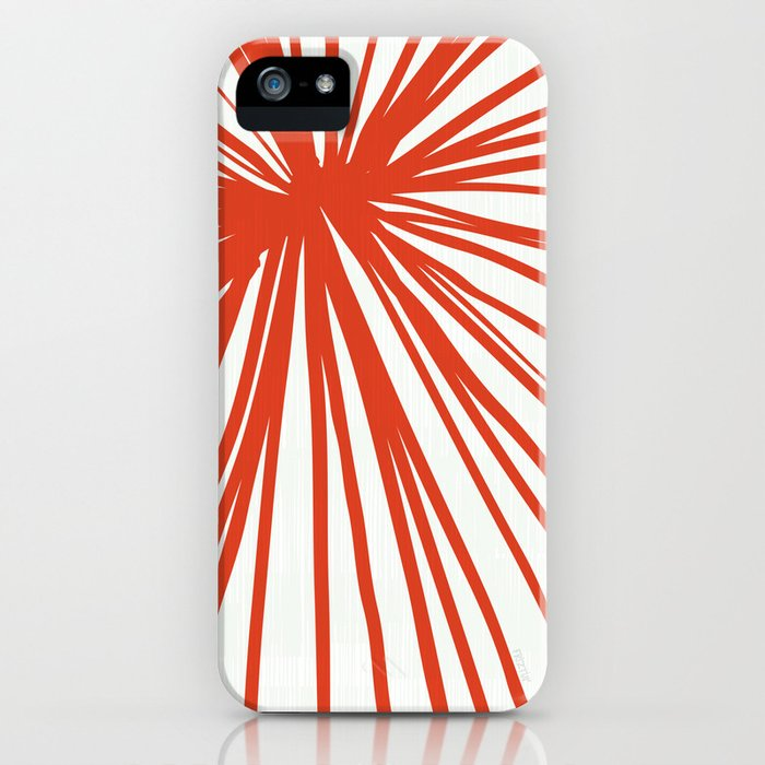 Dandelions in Red by Friztin iPhone Case