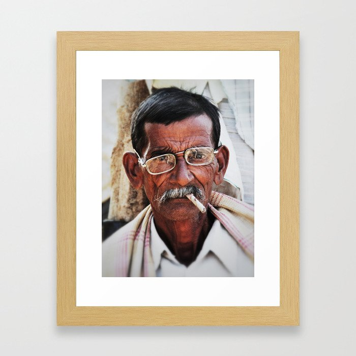 Man with Cigarette Framed Art Print