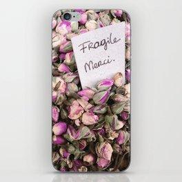 Fragile flowers, Nice France iPhone Skin