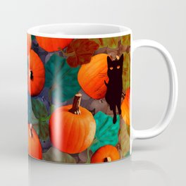 Pumpkins and Black Cats Coffee Mug