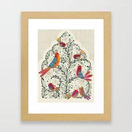 'Bia's Nest' Bird Family Painting Framed Art Print