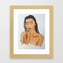 Fem Figure Framed Art Print