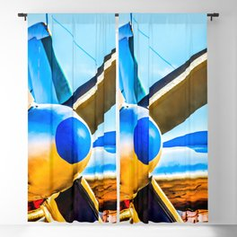 Twin propellers of a vintage aircraft Blackout Curtain