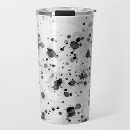 Black Ink Drops Travel Mug
