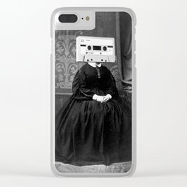 Faces of the Past: Audio Cassette Clear iPhone Case