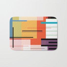 Abstract lines Art Bath Mat
