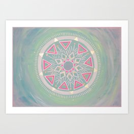 Mandala Clarity, Focus, Awareness Art Print