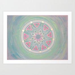 Mandala Clarity, Focus, Awareness Art Print