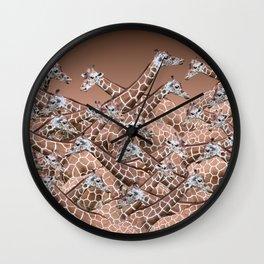 Sea of Giraffes Wall Clock