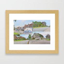 19/ Mewsbrook Park & Broadmark Lane Compilation by Duncan Thrussell Framed Art Print