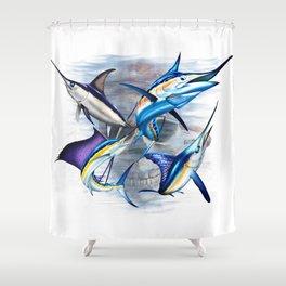 Canyon Masters Billfish Skull Design Shower Curtain