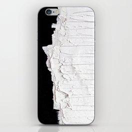 Black, White & White iPhone Skin