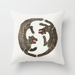 Japanese Tiger Throw Pillow