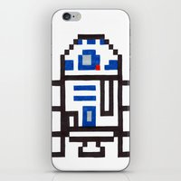r2d2 iPhone & iPod Skins featuring r2d2 by Walter Melon