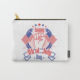 Happy 4th of July Freedom Hand & USA flag Carry-All Pouch