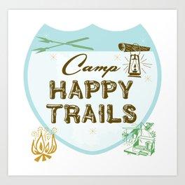 Retro Camping Art Print