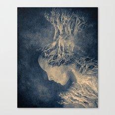 Dark portrait II  (colour option) Canvas Print